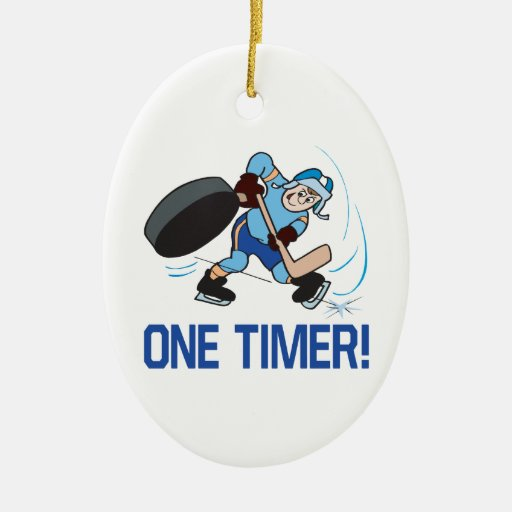 One Timer Double-Sided Oval Ceramic Christmas Ornament