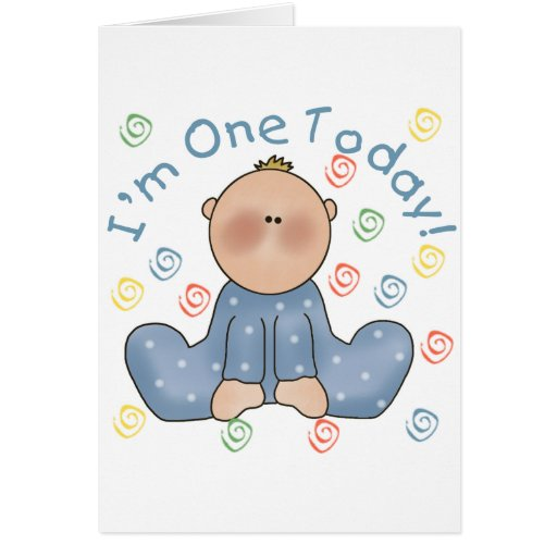 One Today Boy Birthday Tshirts and Gifts Card