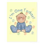 One Today Boy Birthday Tshirts and Gifts Post Card