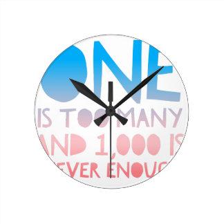 One Too Many Funny AA Recovery Alcoholic Shirt Round Clock