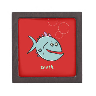 one toothed fish teeth - customizable gift box