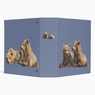 """One Touch  Ring 2"""" Binder with grizzly cubs"""