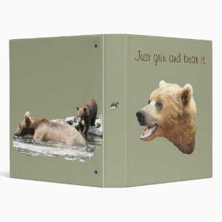 """One Touch Ring Avery  1"""" Binder with grizzlies"""