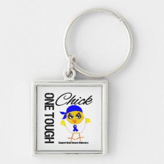 One Tough Chick Anal Cancer Warrior Key Chains