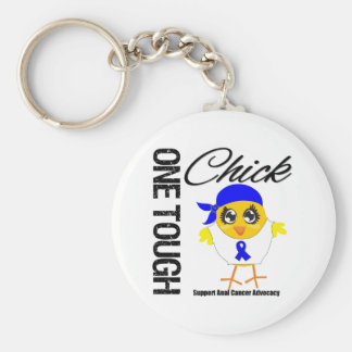 One Tough Chick Anal Cancer Warrior Key Chain
