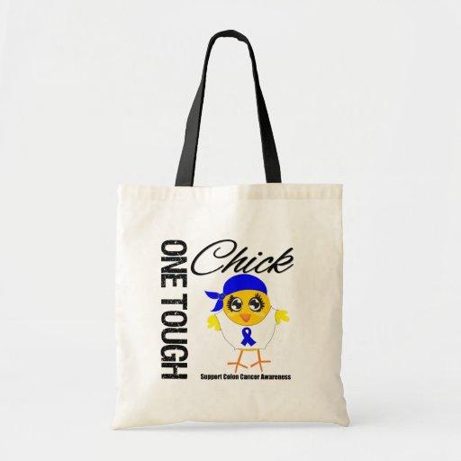 One Tough Chick Colon Cancer Warrior Budget Tote Bag