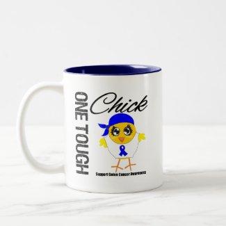 One Tough Chick Colon Cancer Warrior mug