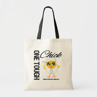 One Tough Chick Lung Cancer Warrior Canvas Bags