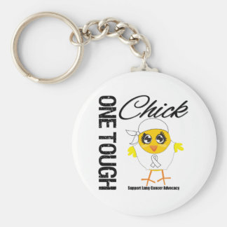 One Tough Chick Lung Cancer Warrior Key Chains