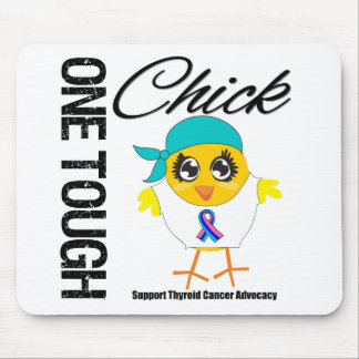 One Tough Chick Thyroid Cancer Warrior Mouse Pads