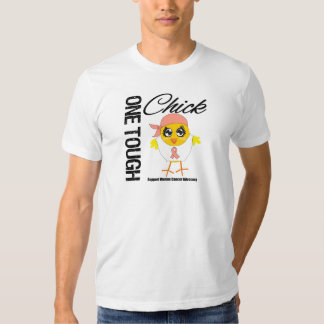 One Tough Chick Uterine Cancer Warrior T-shirt