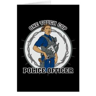 One Tough Female Cop Card