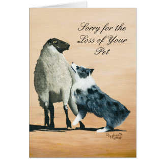 One Tough Sheepdog Painting Sympathy notecard Stationery Note Card