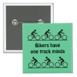 one track mind 2 inch square button