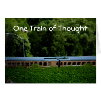"""ONE TRAIN OF THOUGHT"" HAPPY BIRTHDAY CARD"