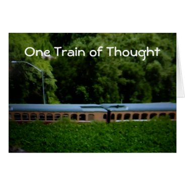 """friendshipandfun """"ONE TRAIN OF THOUGHT"""" HAPPY BIRTHDAY CARD"""