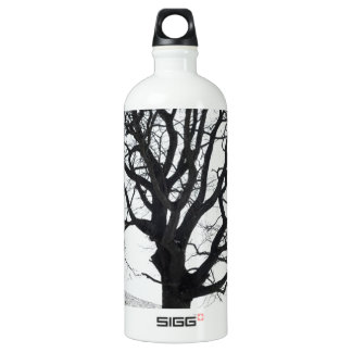 One Tree and Snow Aluminum Water Bottle