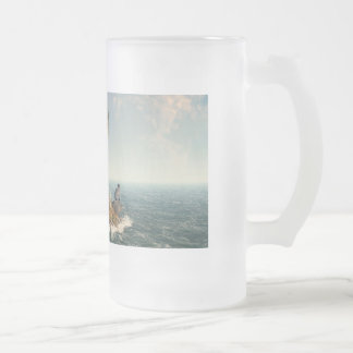 One Tree Island Frosted Glass Beer Mug