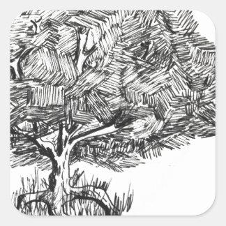 One tree so fair square sticker