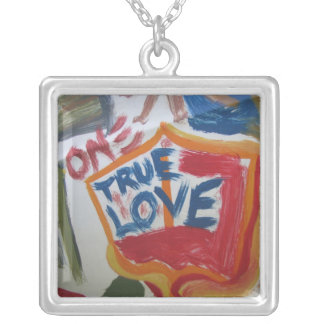 One True Love Silver Plated Necklace