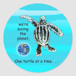 One Turtle At a Time Sticker