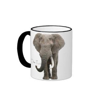 One Tusk Elephant Mug