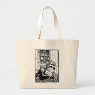 One, Two, Buckle My Shoe Nursery Rhyme Large Tote Bag