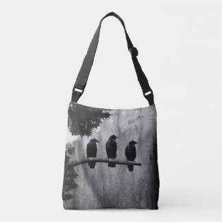 One Two Three Ravens Crossbody Bag