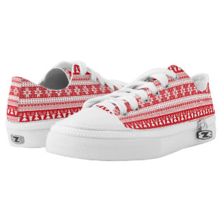 One Ugly Red Christmas. Low-Top Sneakers