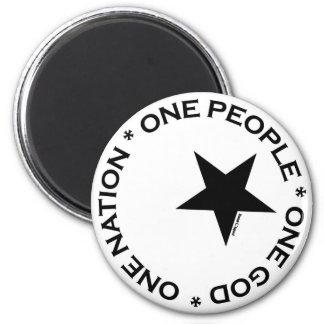 One Ummah Star 2 Inch Round Magnet