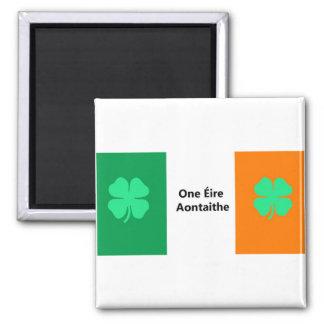 One United Ireland Flag 2 Inch Square Magnet