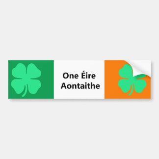 One United Ireland Flag Bumper Sticker