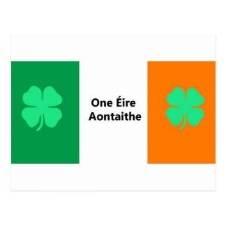 One United Ireland Flag Postcard