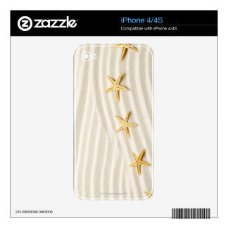 One unstraight row of starfishes decal for iPhone 4