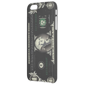 One US Dollar Currency Clear iPhone 6 Plus Case