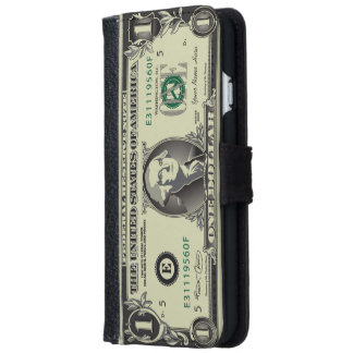 One USD $ Dollar Currency iPhone 6 Wallet Case