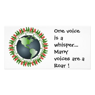 One voice is a whisper... card