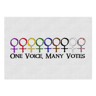 One Voice, Many Votes Large Business Cards (Pack Of 100)