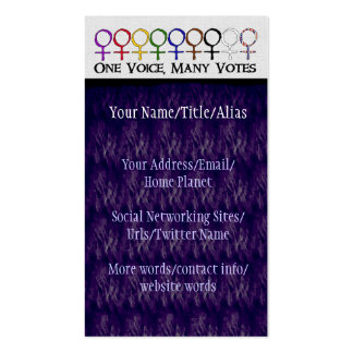 One Voice, Many Votes Double-Sided Standard Business Cards (Pack Of 100)