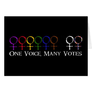 One Voice, Many Votes Card