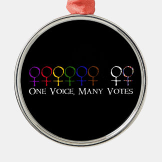 One Voice, Many Votes Metal Ornament