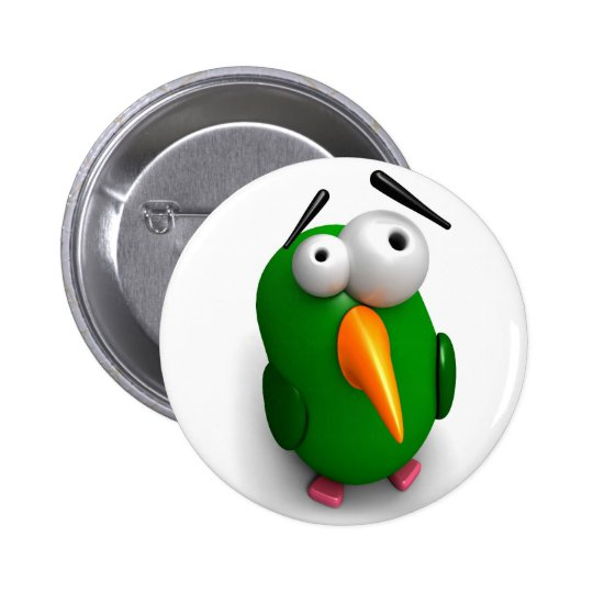 One Wacky Parrot Pinback Button