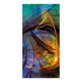 One Warm Feeling  - colorful digital abstract art Card