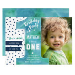 One Watercolor | Birthday Party | Invitation at Zazzle