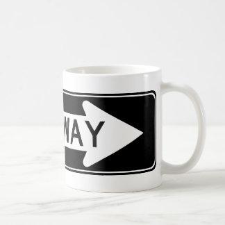 One Way Arrow (Both) Highway Sign Coffee Mug