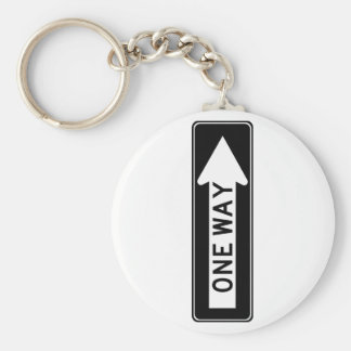 One Way Arrow (Right) Highway Sign Keychain