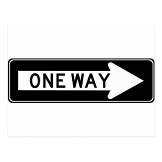 One Way Arrow (Right) Highway Sign Postcard