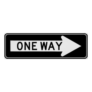 One Way Arrow (Right) Highway Sign Posters