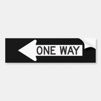 One Way Arrow Road Sign Bumper Sticker