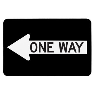 One Way Arrow Road Sign Magnet